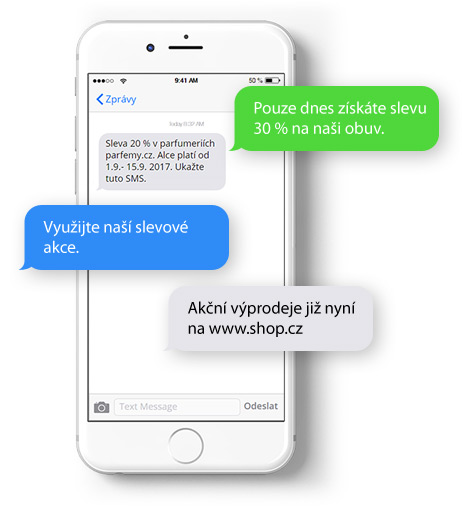 SMS marketing - rozesílka